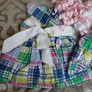 💞Ralph Lauren 3 Month Patchwork Dress with Bow💞